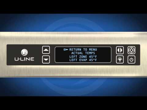 Modular 3000 Series U-Select® Controls -- U-Line Control Panel Actual Temps