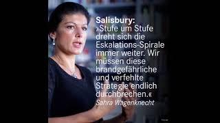 Sahra Wagenknecht zum Skripal Fall: Eskalations-Spirale gegen Russland dreht sich immer weiter