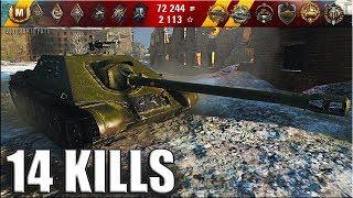СУ-122-44 мастер 14 фрагов за 5 минут 🌟🌟🌟 World of Tanks лучший бой на прем пт-сау 7 уровень