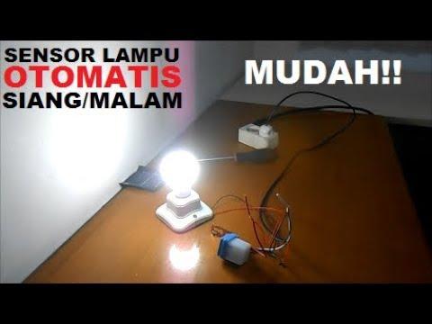 Cara Pasang Lampu Otomatis Sensor Cahaya Photocell Youtube