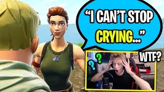 GROWN MAN GETS CAUGHT CRYING IN MY FORTNITE GAME... (SUPER AWKWARD)
