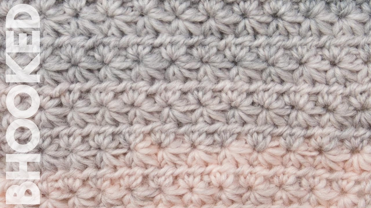 How to Crochet the Star Stitch Pattern - YouTube