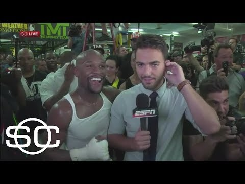 Floyd Mayweather Interrupts SportsCenter With Message For Fans | SportsCenter | ESPN