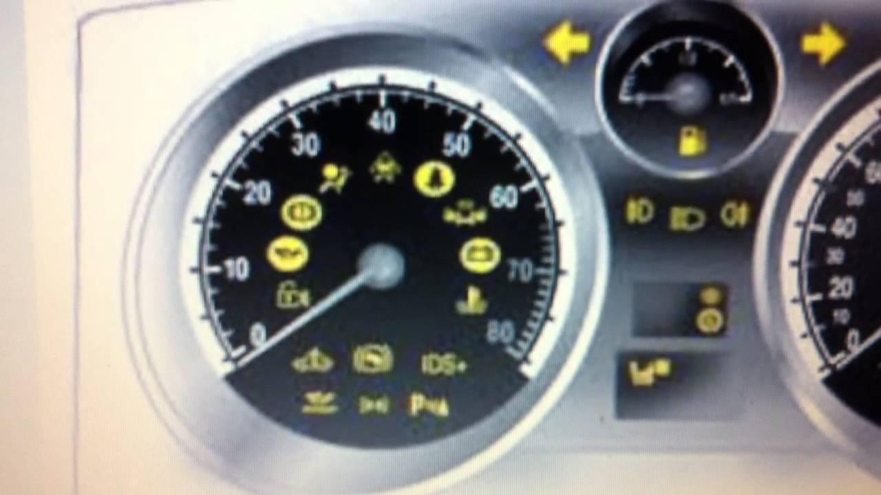 Vauxhall Zafira Airbag Warning Dash Light How To Remove