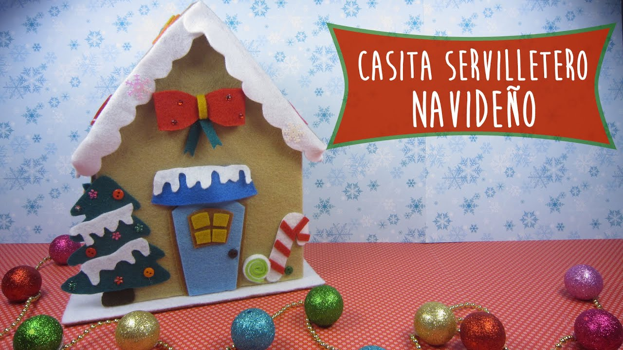 Casita servilletero navide o ideas para decorar tu mesa - Ideas para decorar mesa navidad ...