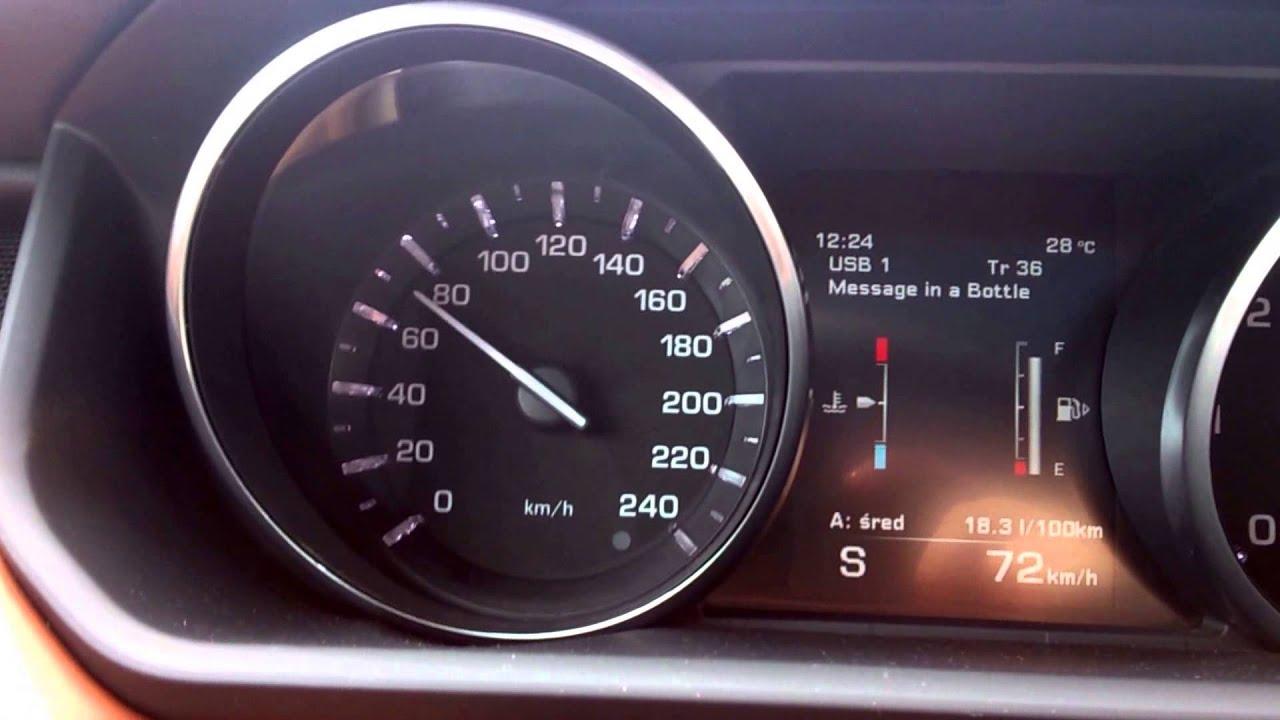 Range Rover Sport 4 4 SDV8 0 100 km h acceleration & engine sound