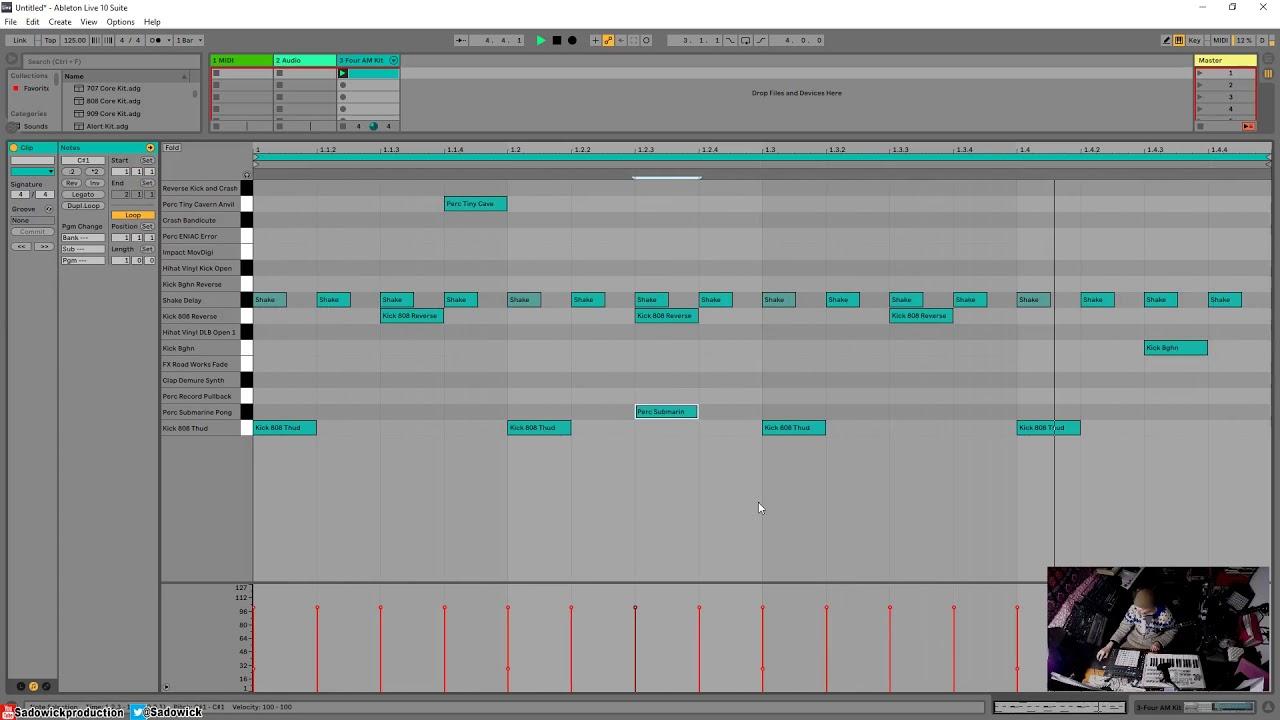 Ableton Live 10 - Easy Dark Techno Drum Pattern