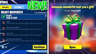 "NEW ""GIFTING SYSTEM"" Update In FORTNITE! - LEAKED Gifting Gameplay! (Fortnite Battle Royale)"