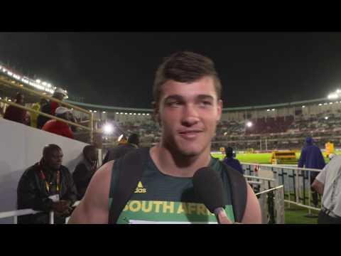 IAAF WU18 Nairobi - Discus Throw Men Bronze Morne BRANDON