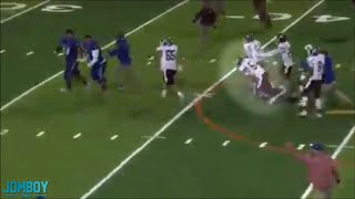 High School Player tackles Referee, a breakdown