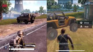 PUBG MOBILE vs RULES OF SURVIVAL Сравнение графики iOS и Android Gameplay