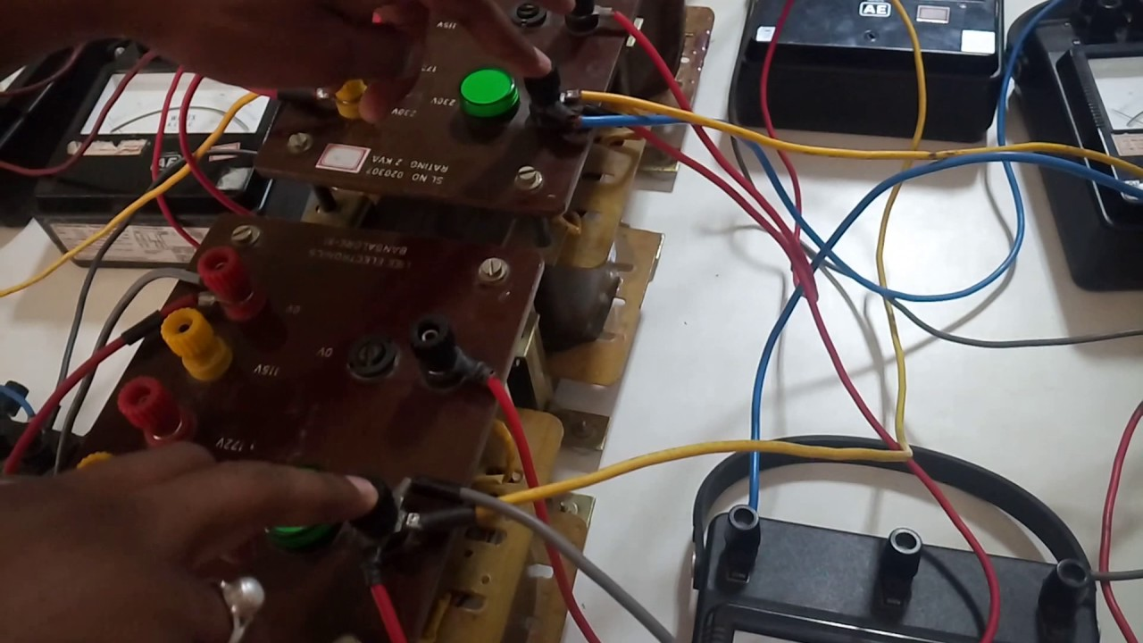 vtu tim lab polarity test 3 phase connection of single phase transformers in star delta [ 1280 x 720 Pixel ]