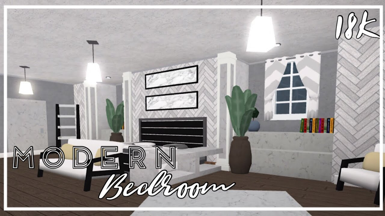BLOXBURG lll Modern Bedroom lll Speedbuild - YouTube