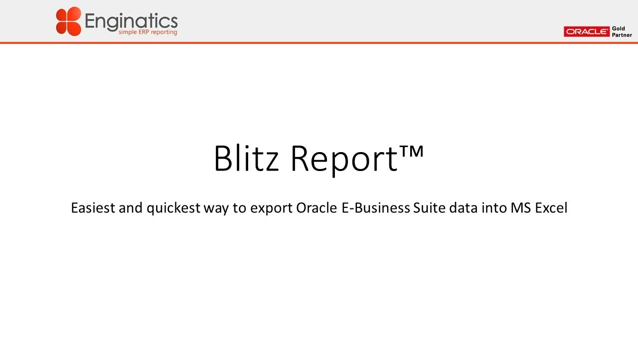 Blitz Report™ - XDO Publisher Datasources