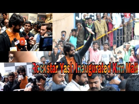 Rockstar Yash Inaugurated KLM Fashion Mall | Bangalore Media