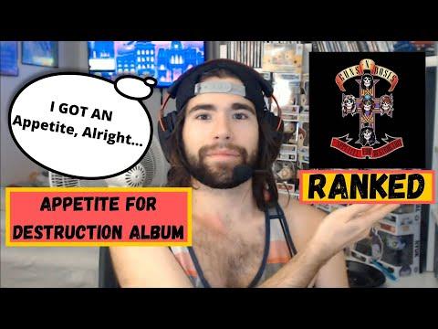 Guns N Roses Appetite For Destruction Album – Ranking!