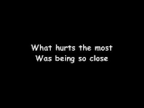 lyrics to what hurts the most by cascada