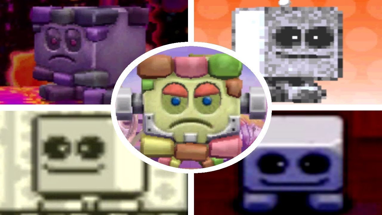 all blocky battles appearances in kirby games 1995 2017 youtube