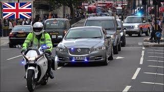 NEW Prime Minister's arrival - Metropolitan Police SEG Convoy