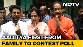 Maharashtra Election 2019: Thackeray Family Votes In Mumbai
