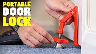 Portable Door Lock | Travel Door Lock | DoorJammer