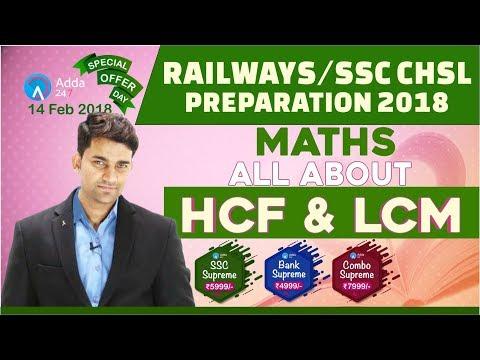 SSC CHSL 2018 / RAILWAY 2018 | HCF & LCM | Maths | Online Coaching For RAILWAY