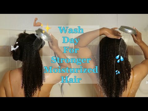 Simple Wash Day Routine For Healthy Moisturized & Strong Hair | Start To Finish