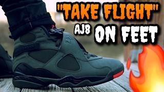"ALL HYPE!? ""Take Flight"" Air Jordan 8 ON FEET Review"