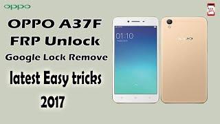 Oppo A37f frp Unlock google account bypass