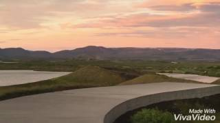 ミーヴァトン湖の夕日