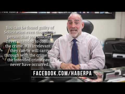(134) What is Criminal Solicitation in FL? Michael A Haber Miami Criminal Defense DUI BUI Lawyer