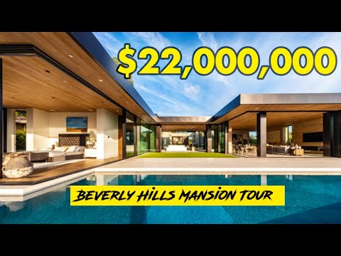 Inside of $24 Million Beverly Hills Modern Mansion Tour