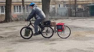 Испытание велоприцепа