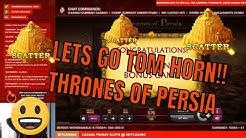 Thrones of Persia BIG win in Bonus!! Tom Horn secures a brilliant start!