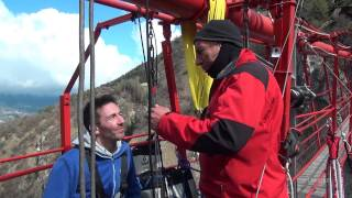Niouc Swiss Bungy Jumping 190m Staring Max and Andreas from Freiburg Germany