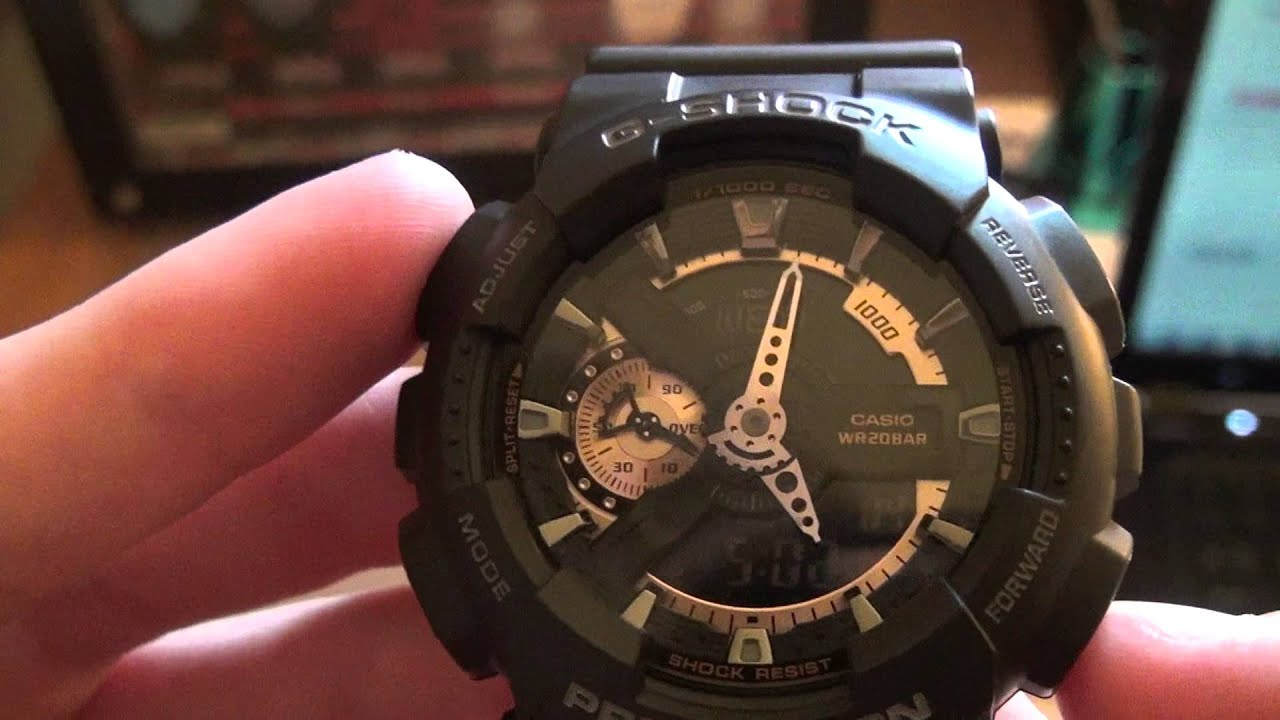 Как настроить часы g-shock ga-110