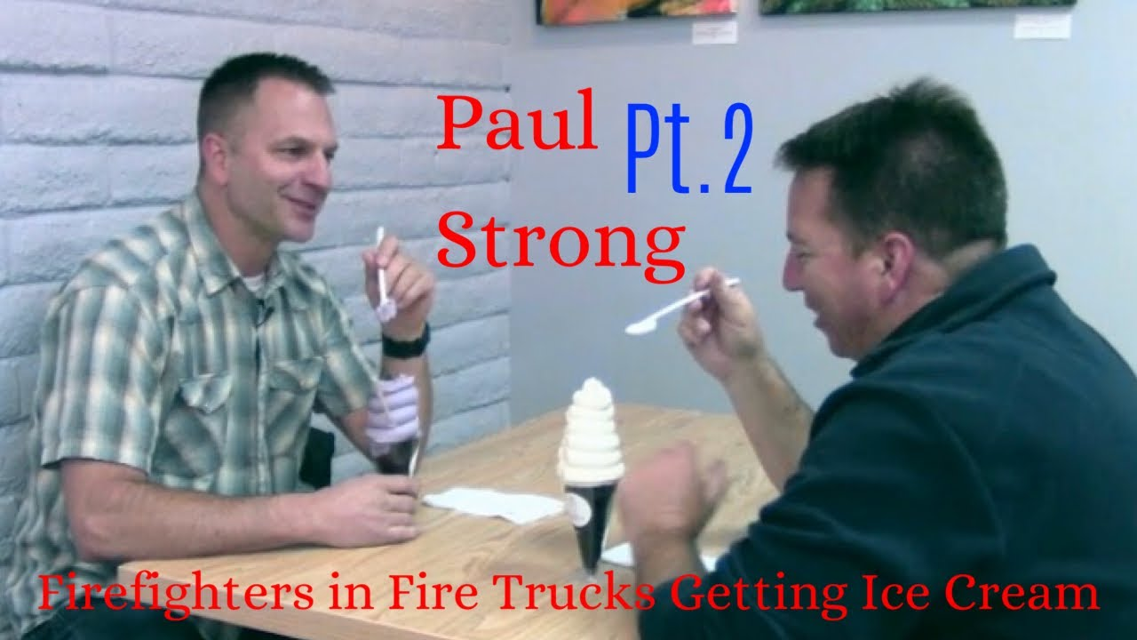 Firefighters in Fire Trucks getting Ice Cream - Paul Strong Part 2
