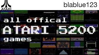 All Official ATARI 5200 Games