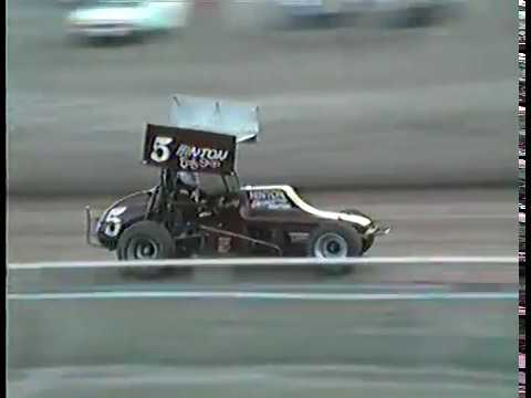 Good Saturday night racing from Lawton Speedway.Some video from all classes.Note the 6 cyl. super modifieds that year. - dirt track racing video image
