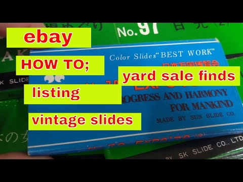 EBay Listing; HOW TO; Projector And Slides Yard Sale Find