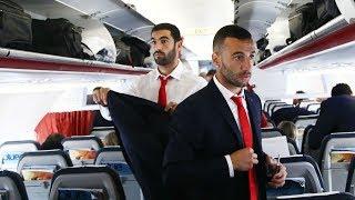 Η πτήση του Ολυμπιακού για το Μιλάνο! / Olympiacos's flight to Milan!
