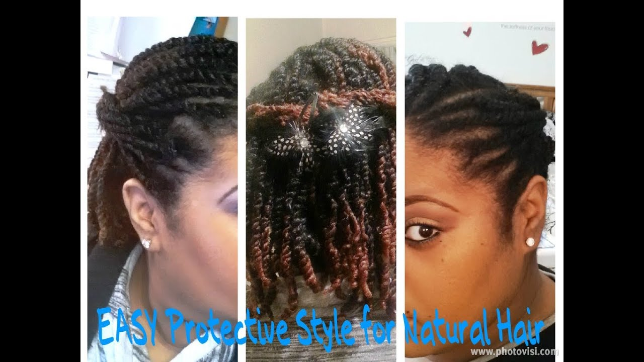 Easy Lasting Protective Style How To For Natural HairTwists