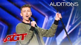 Early Release The Judges Can t Stop Laughing at Cam Bertrand s Comedy America s Got Talent 2021