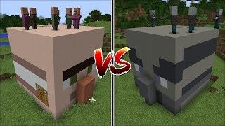 Minecraft VILLAGER HEAD VS VINDICATOR HOUSE MOD BEST VILLAGE IN MINECRAFT Minecraft