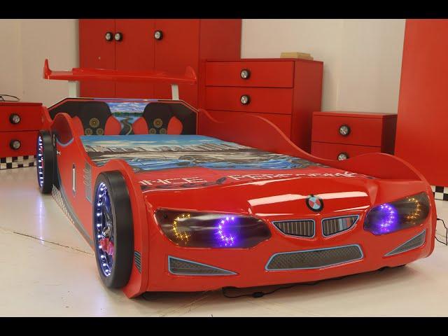 Kırmızı Arabalı Yatak - inegoldeneve