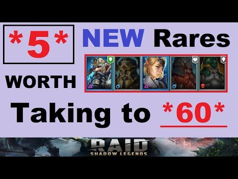 *5* NEW RARES Worth ~6 Starring~ & Leveling To 60 In Raid Shadow Legends