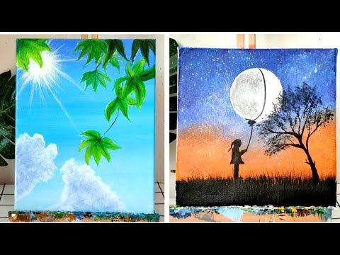 7 Easy Painting Ideas For Beginners Super Easy Painting Ideas Youtube