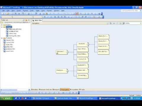 FRONTPAGE 2003 TẠO WEB CON  6 7 2009