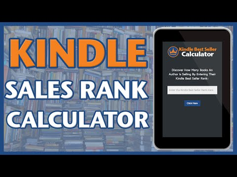 Kindle Best Seller Calculator: Converts Amazon Sales Rank