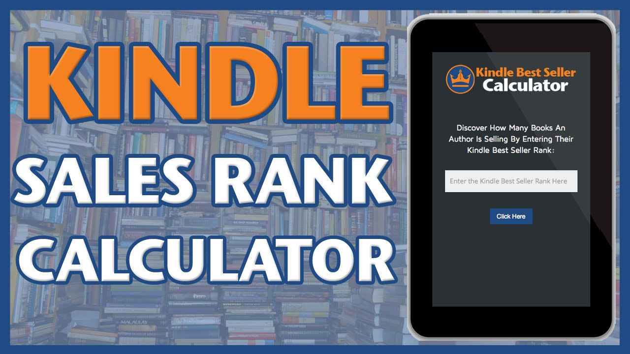 Bestsellers Libros Kindle Best Seller Calculator Converts Amazon Sales Rank